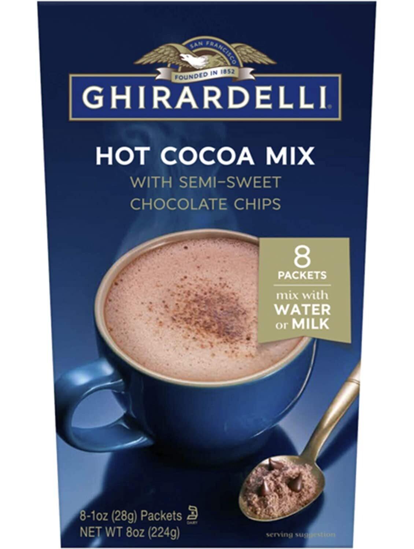 Chocolate Caliente Ghirardelli con chispas de chocolate 8 sobres /   4 unidades