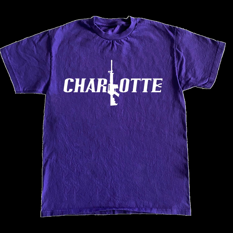 Charlotte Stick Tee (Purple/Wht)