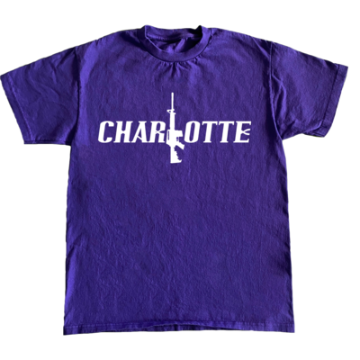 Charlotte Stick Tee (Purple/Wht)