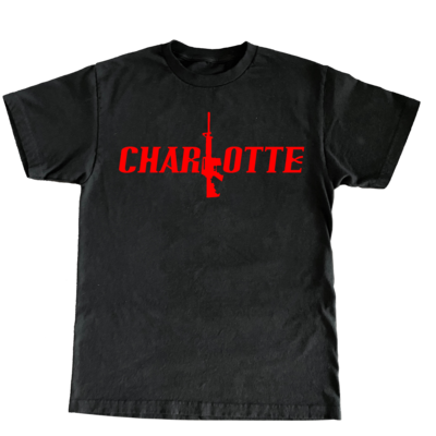 Charlotte Stick Tee (BLK/Red)