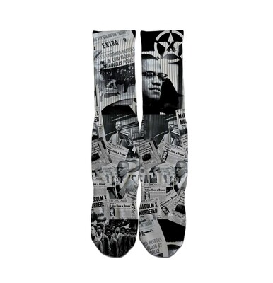Malcolm X Tribute Socks