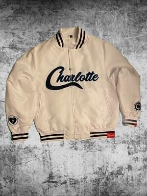 """Zeuway """"Charlotte"""" Bomber White"""