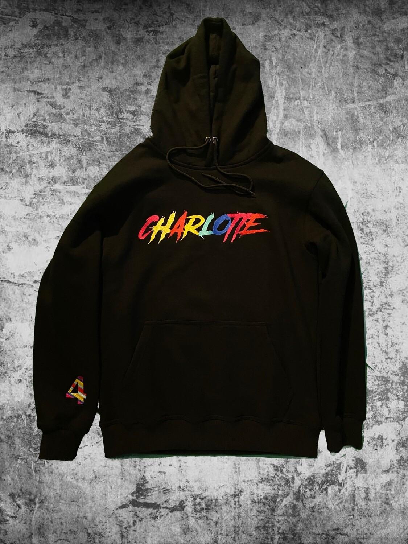 "Black ""Charlotte"" Multi Colored Sweat suit"