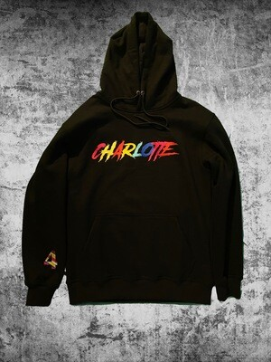 "Black ""Charlotte"" Multi Colored Sweat suit"