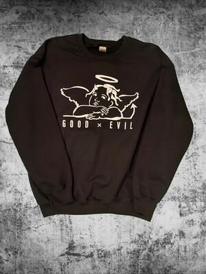 Good X Evil Black Crew Neck