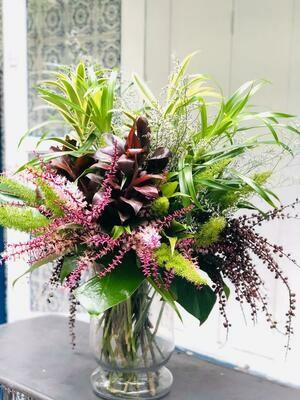 Bouquet de mix de folhagens