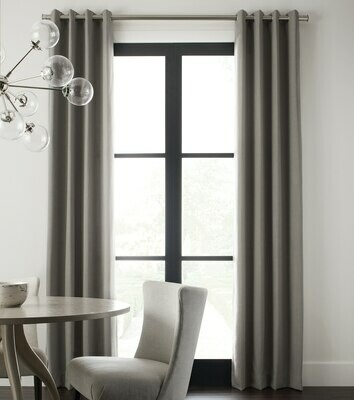Grommet Top Linen Drapes