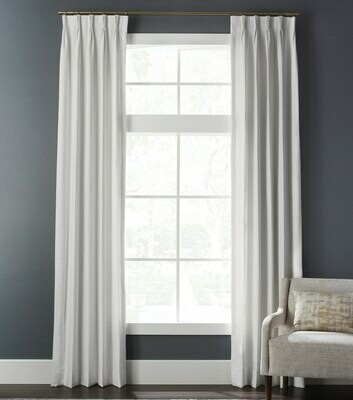 3 Finger Pinch Pleat Cottage Linen Drapes