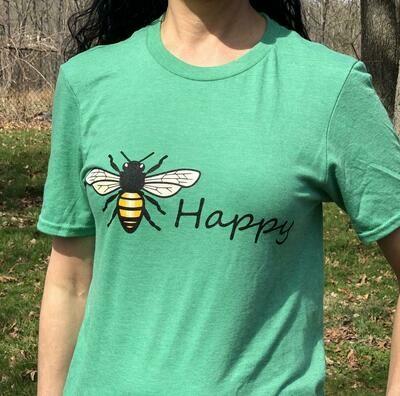 T-Shirt-Bee Happy