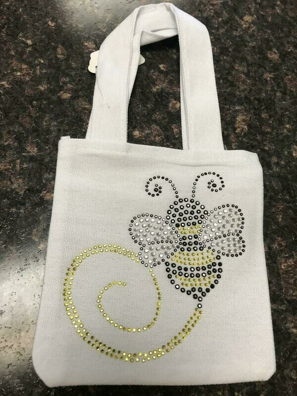 Bee Bling Mini Canvas Bag