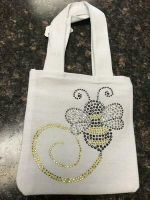 Bee Bling Mini Canvas Bag