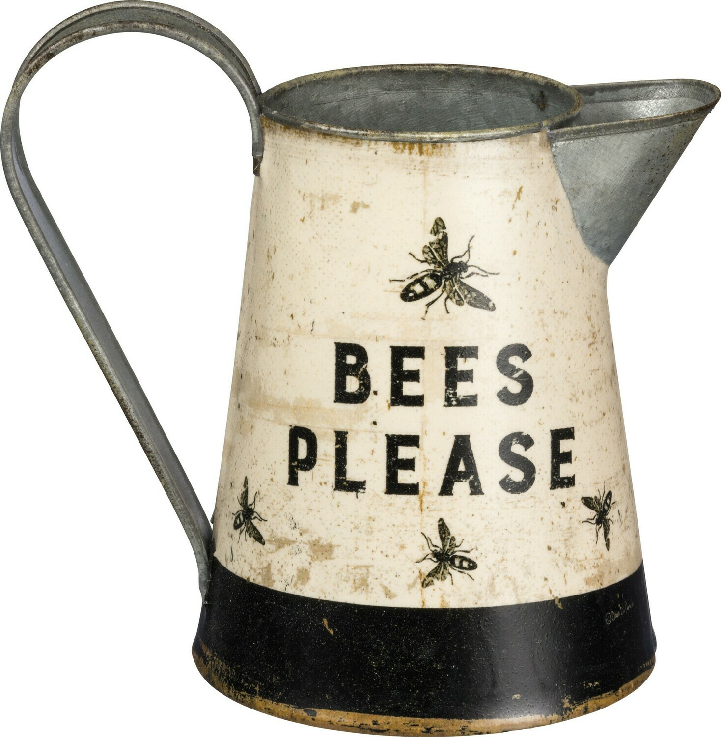 Bees Please Metal Pitcher