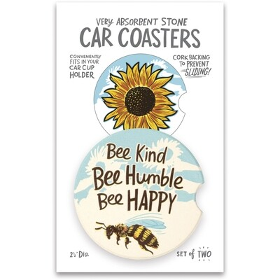 Bee Kind Car Coaster