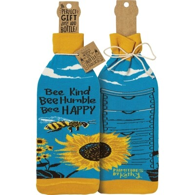Bee Kind Bottle Sock