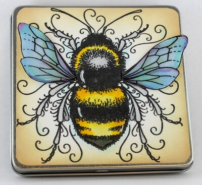 Bee Note Tin w/ Pen & Papers