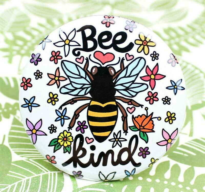 Bee Kind Button Pin