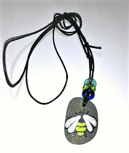 Bee Stone Necklace