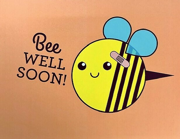 Bee Well Soon Tiny Bee Card