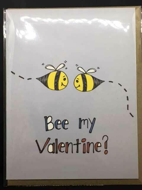 Bee My Valentine Tiny Bee Card