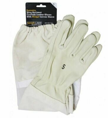 Economy Vented Leather Gloves