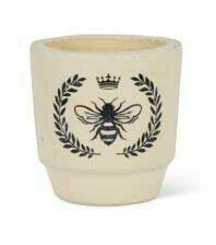 Flower Pot - Bee Crest