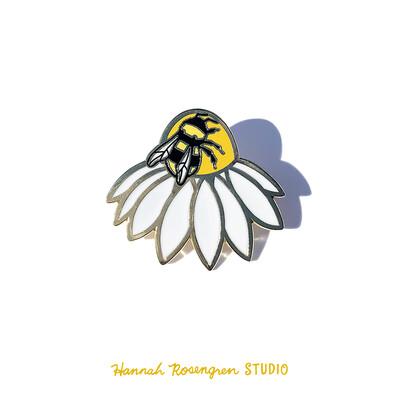 Enamel Bee Pin - Hannah Roseengren