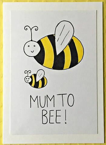 Mum to Bee Greeting Card