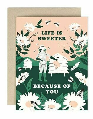 Life Is Sweeter Beekeeper Card