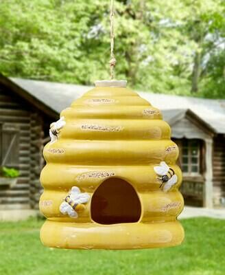 Ceramic Skep Birdhouse
