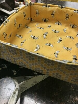 Bee Fabric Tray (~8