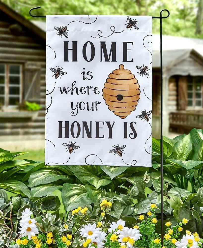 Home is Where Garden Flag/Pole