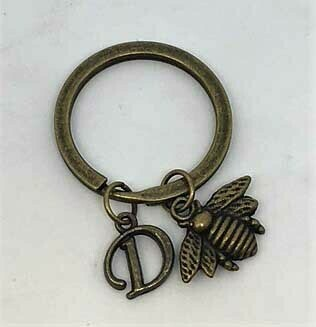 Key Chain-Bronze Letter
