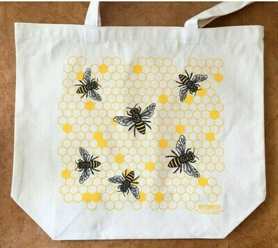 Honeycomb and Bee Tote Bag