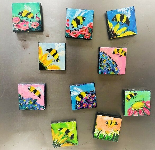 Magnet - Bee Art