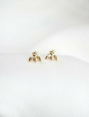 Tiny Bee Stud Earring