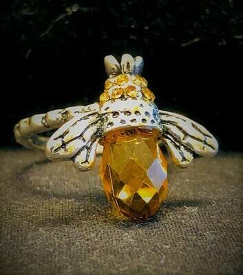 Crystal Bee Ring