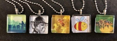 Square Bee Necklace