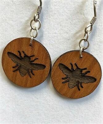 Wood Laser Cut Earrings