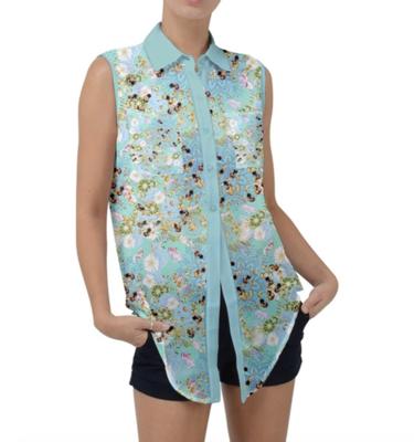 Sleeveless Chiffon Shirt