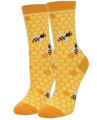 Sock Fun Yellow Honeycomb Crew Sock