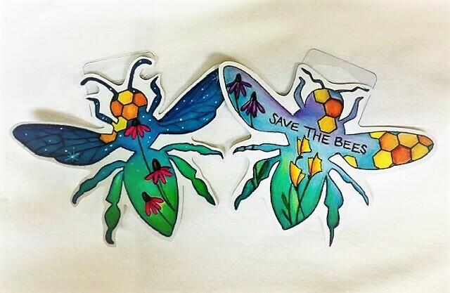 Wandering Arts Bee Sticker