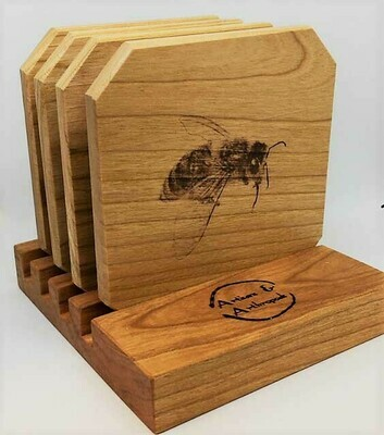 Wooden Bee Coasters
