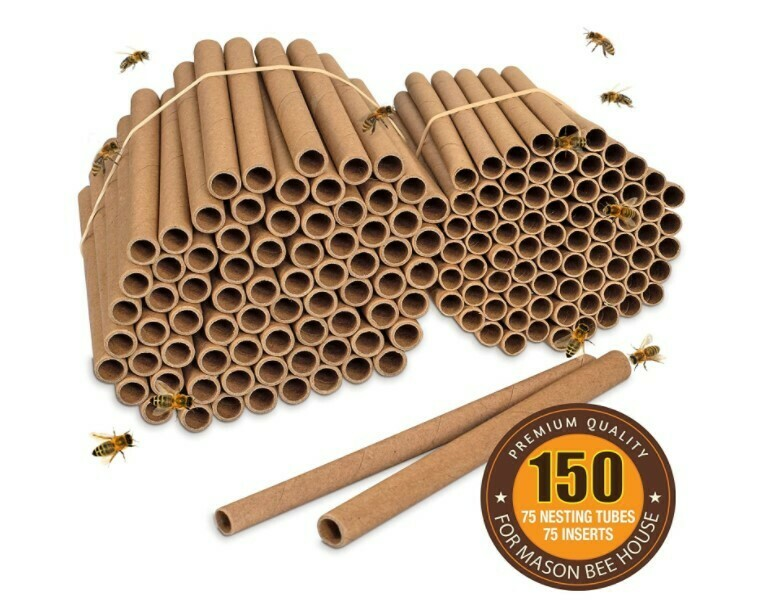 Mason Bee House - Replacement Tubes