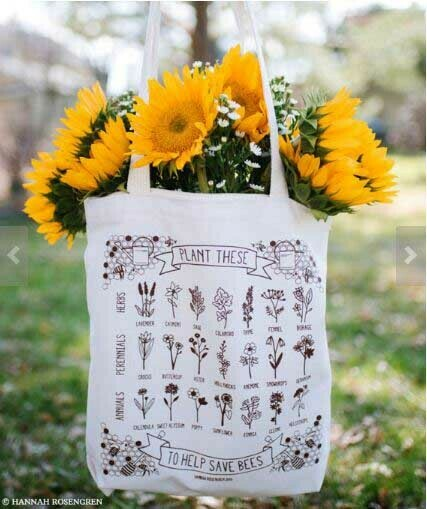 Plant These/Save Bees Tote