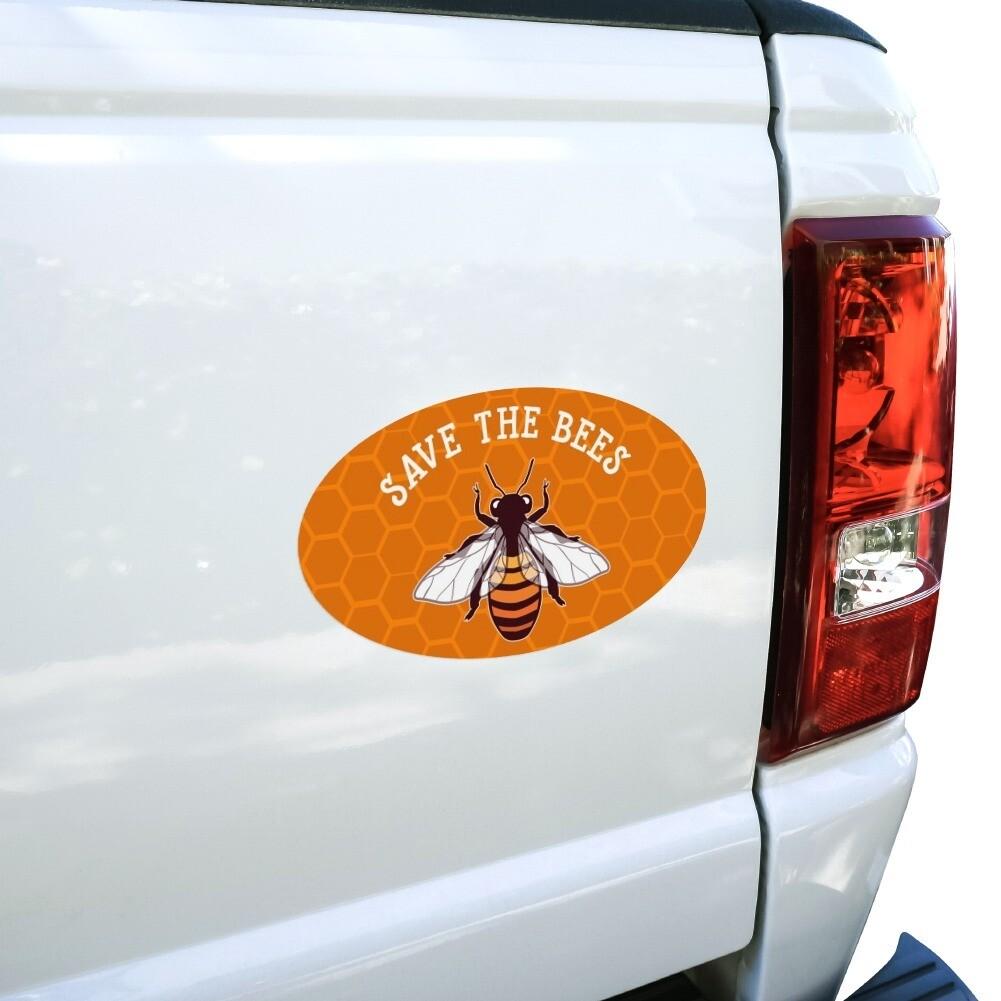 Orange Save Bees Magnet