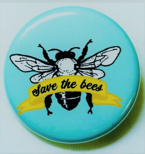 Save the Bees Pin-Blue