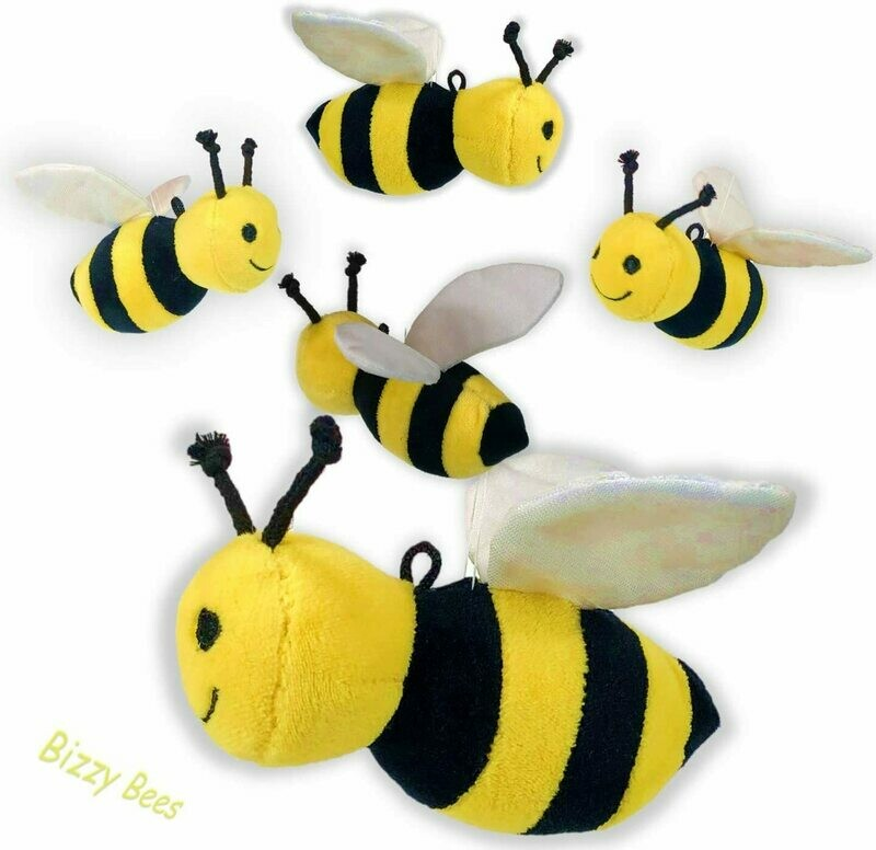 Plush Bee Backpack Clip