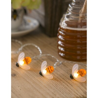 Bee String Lights-Evergreen