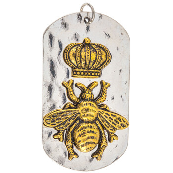 Queen Bee Dog Tag Pendant