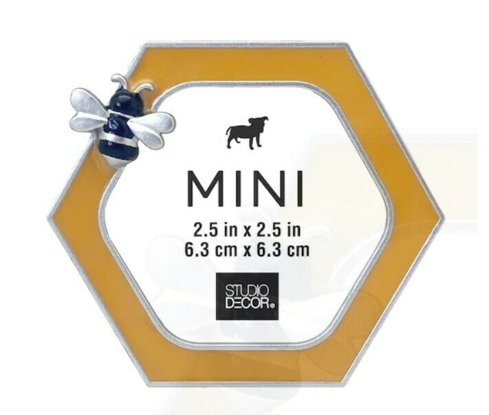 Mini Enamel Bee Picture Frame